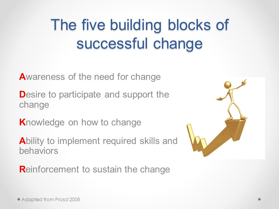 Building Blocks For Successful Change