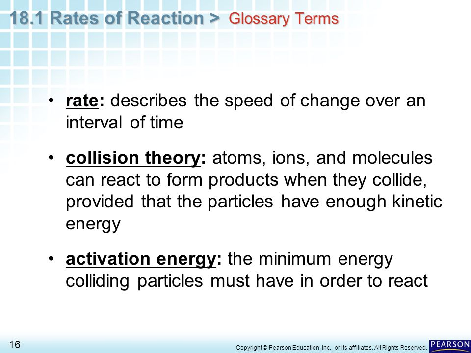 rate: describes the speed of change over an interval of time