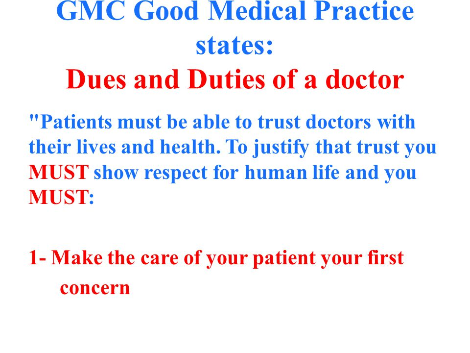 The Good Medical Practice Ppt Video Online Download