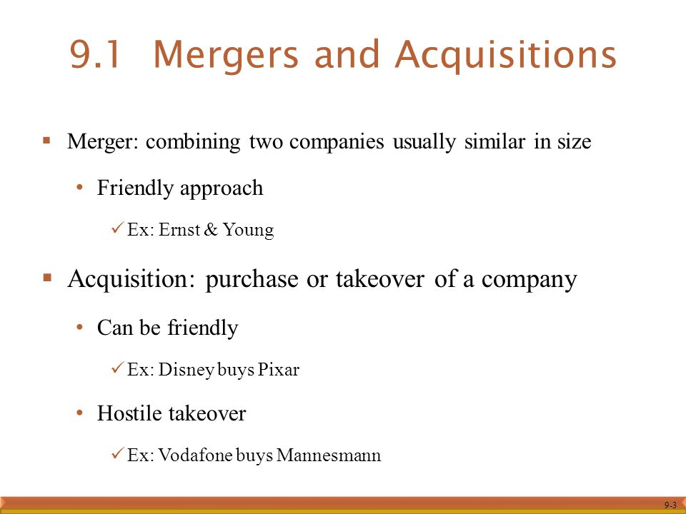 merger and acquisition syllabus Top-level management, including ceos and cfos, owners of companies, presidents, vice presidents of finance, treasurers, controllers, corporate planning directors, financial planners and analysts, directors of new business development, directors of mergers and acquisitions and accountants.