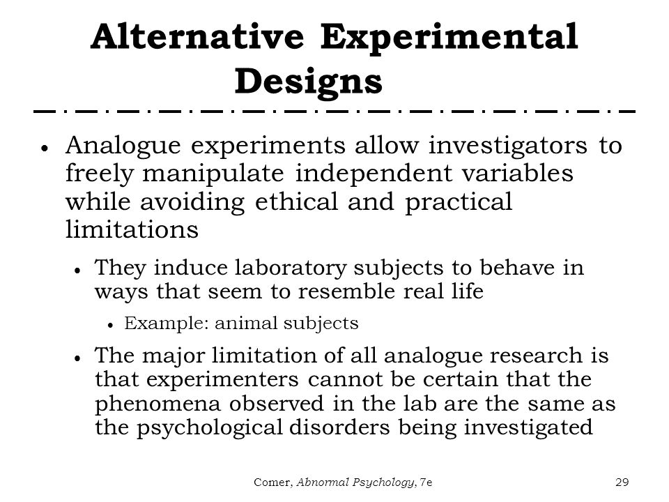Research in Abnormal Psychology - ppt video online download