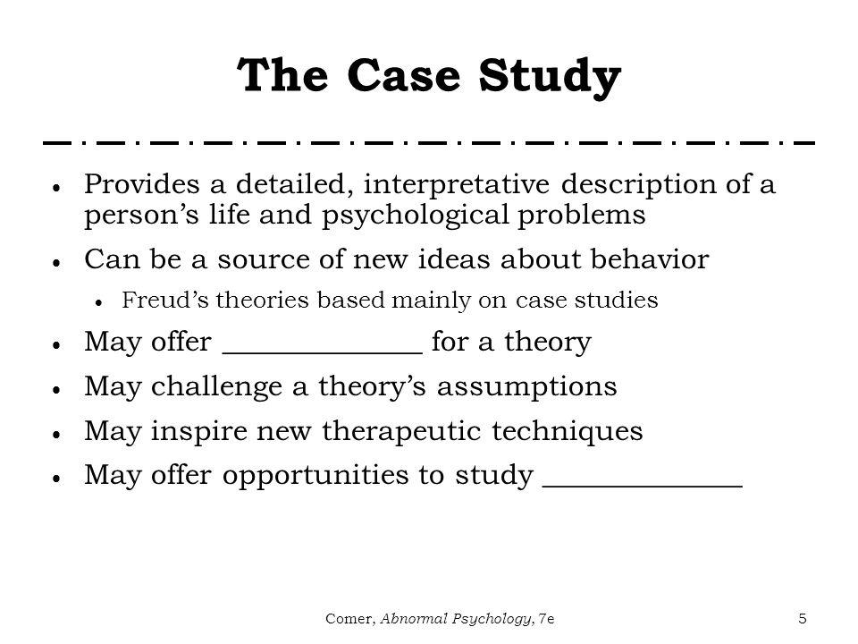 comer abnormal psychology 7e