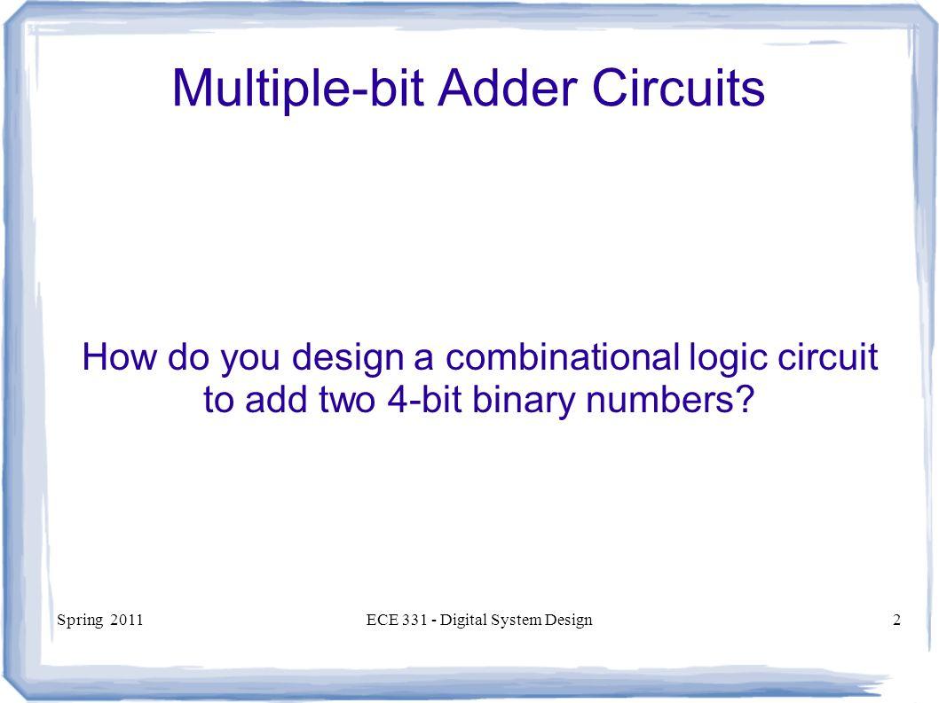 Ece 331 Digital System Design Ppt Video Online Download Logic Diagram 4 Bit Adder Multiple Circuits
