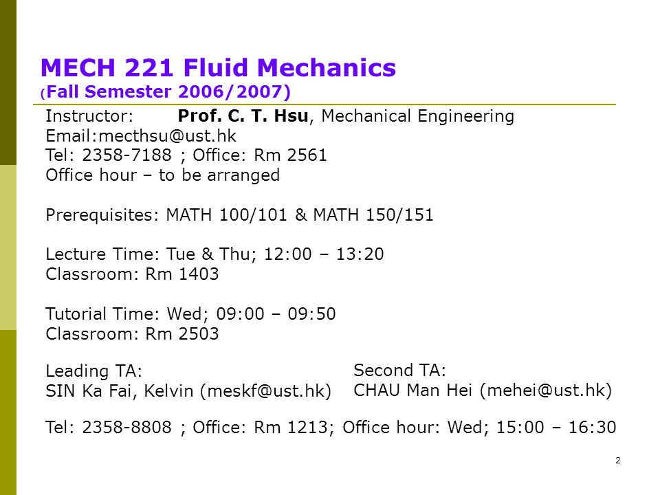 MECH 221 FLUID MECHANICS (Fall 06/07) Tutorial 1 - ppt video online