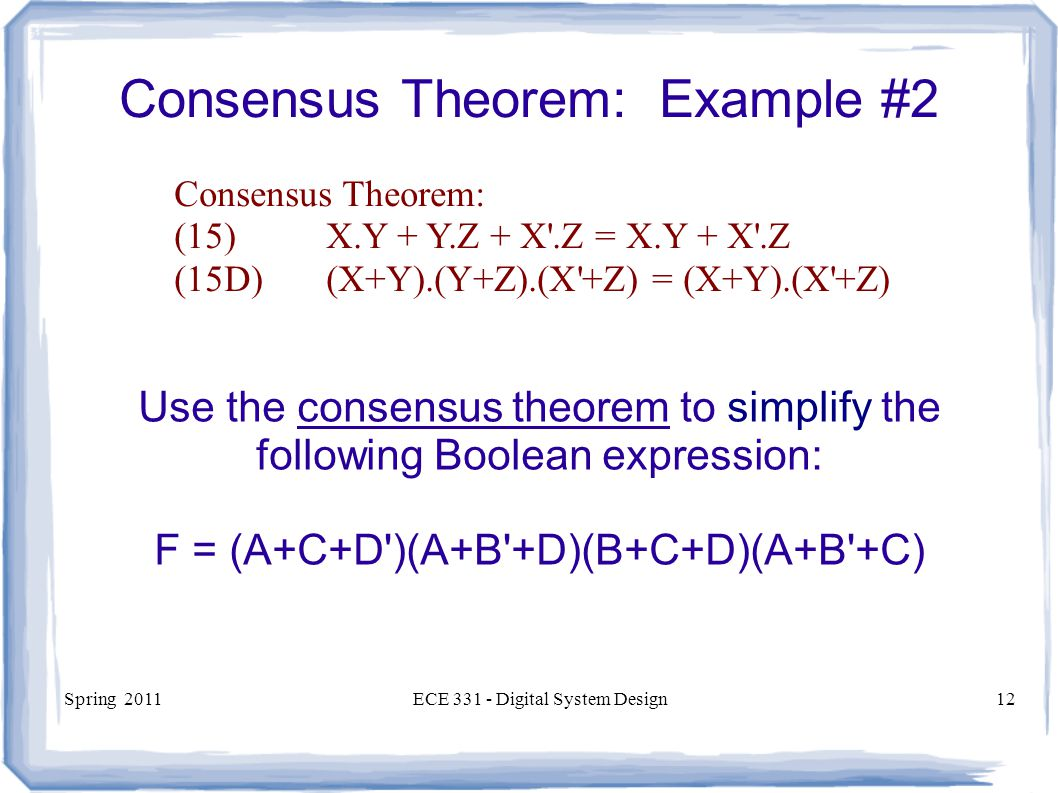 Consensus Theorem: Example #2