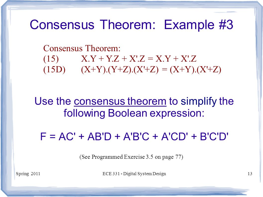 Consensus Theorem: Example #3