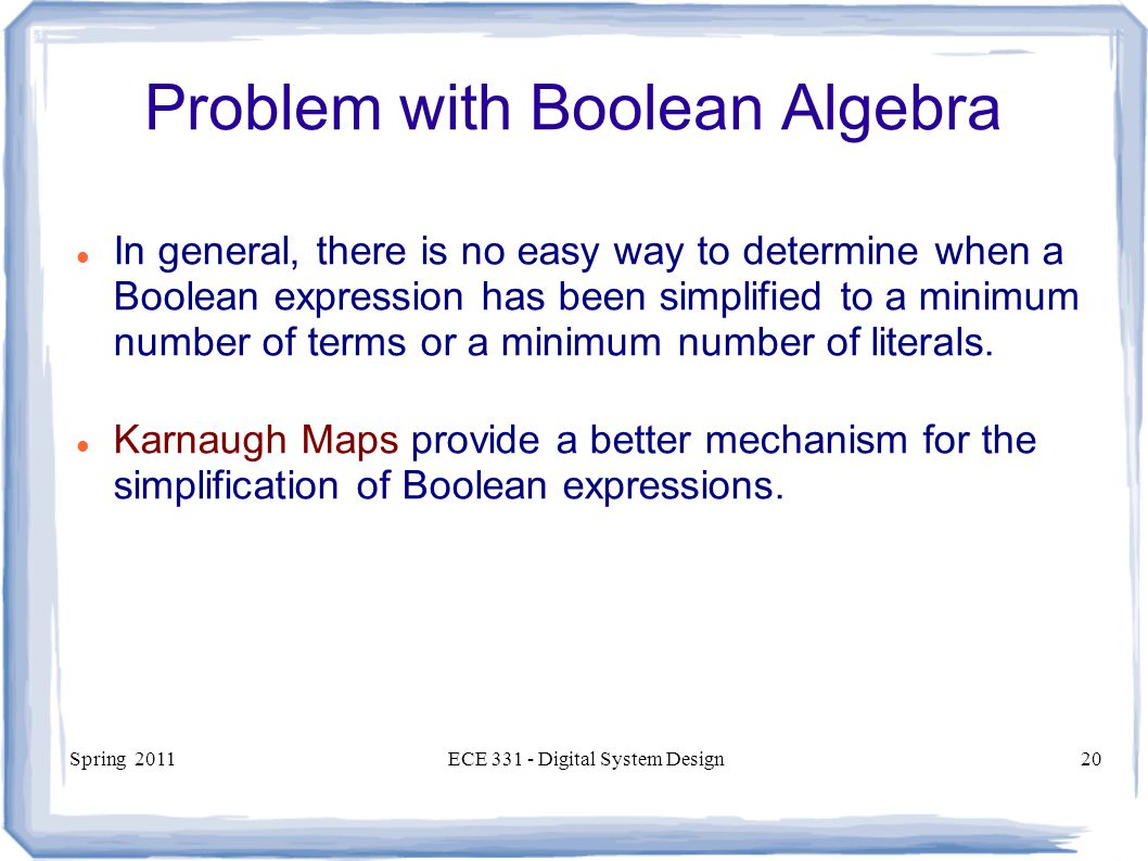Problem with Boolean Algebra
