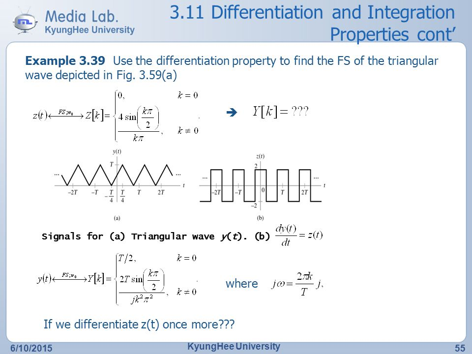 3.11 Differentiation and Integration Properties cont'