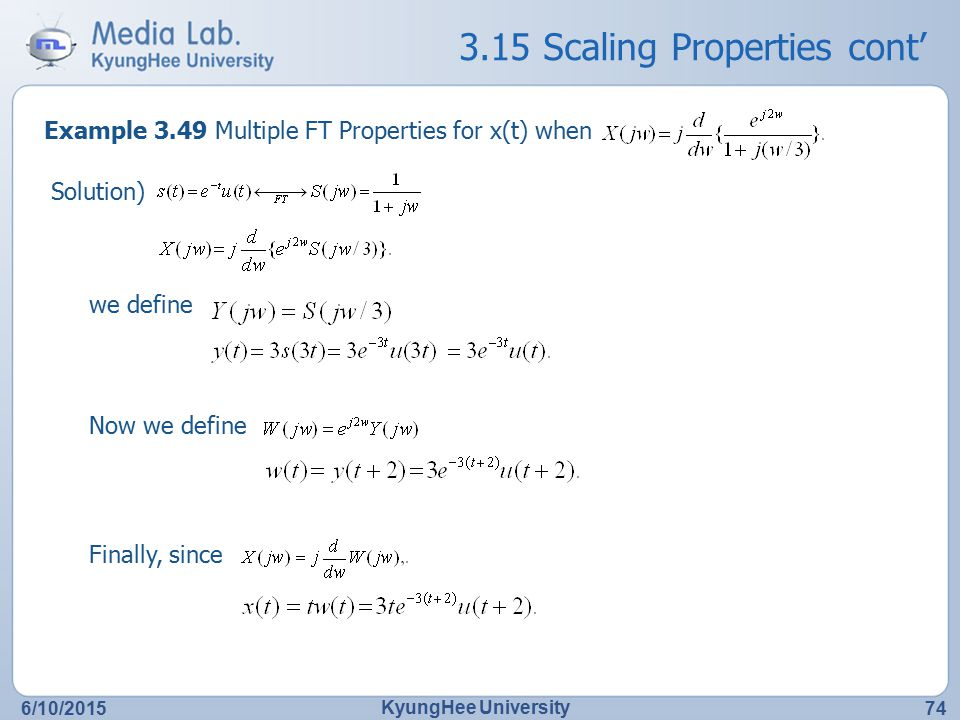 3.15 Scaling Properties cont'