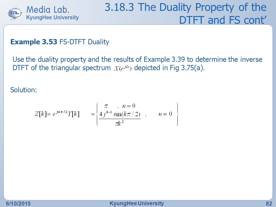 The Duality Property of the DTFT and FS cont'