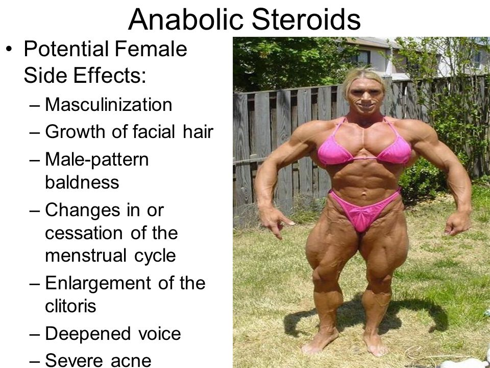 Steroids and enlargement of clitoris