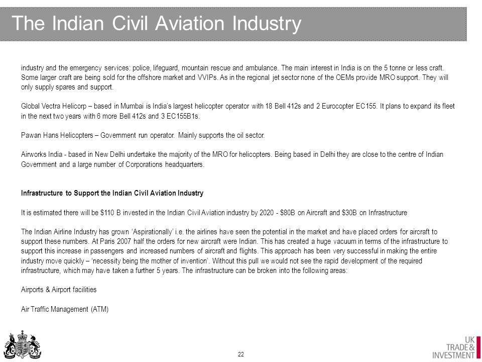 UKTI Aerospace Sector - India 4th Monthly report - August