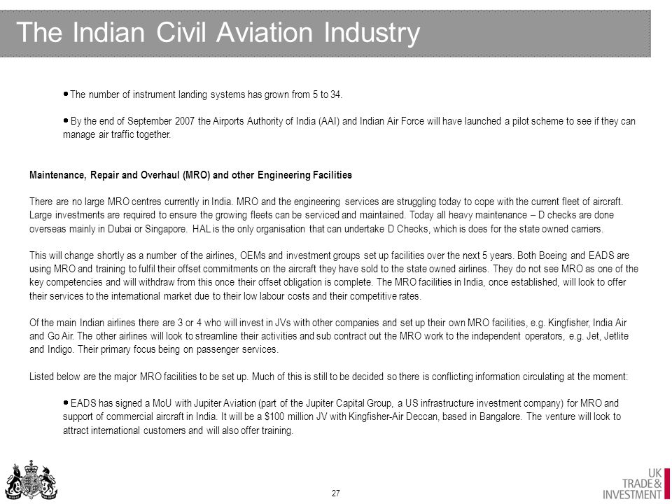 Ukti Aerospace Sector India 4th Monthly Report August Ppt Download