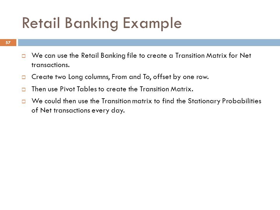 Opim 5984 analytical consulting in financial services ppt download retail banking example altavistaventures Image collections