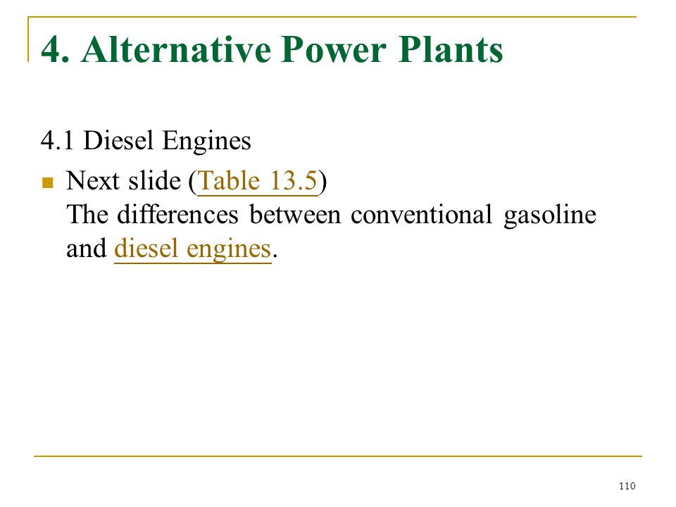 4. Alternative Power Plants