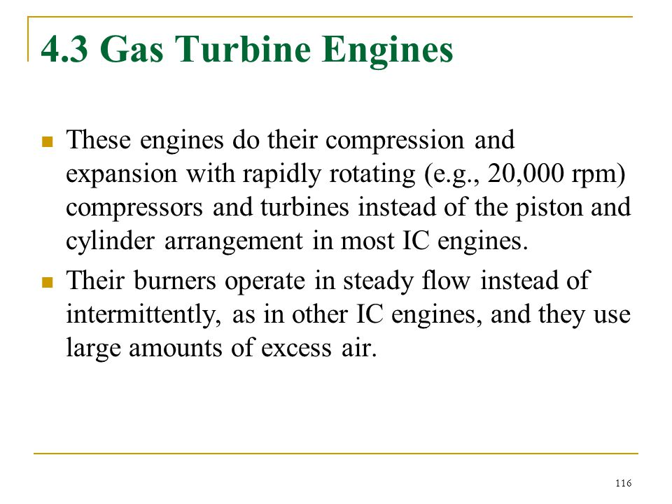 4.3 Gas Turbine Engines