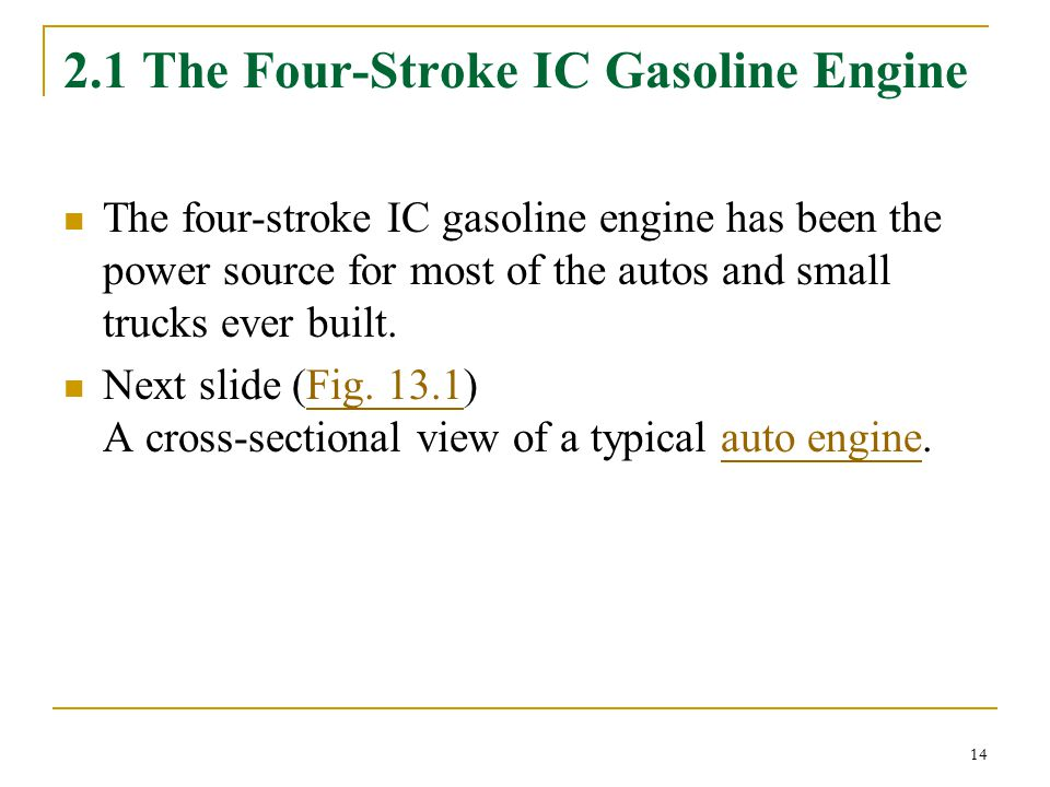 2.1 The Four-Stroke IC Gasoline Engine