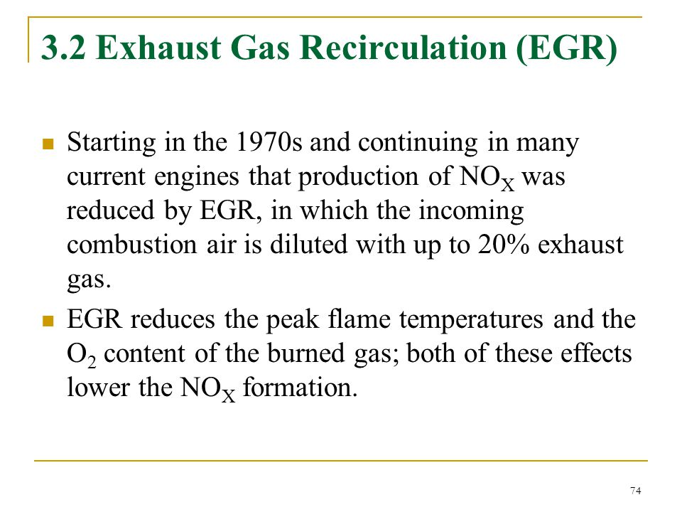 3.2 Exhaust Gas Recirculation (EGR)