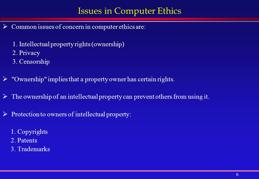 Intellectual Property Rights In Computer Ethics