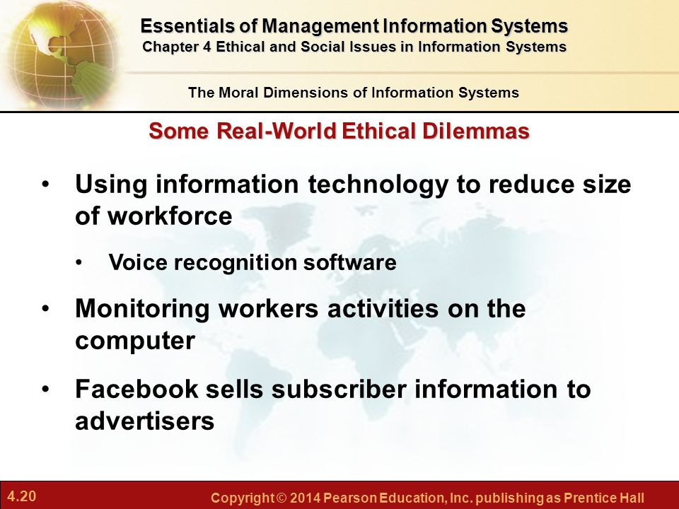 Ethical dilemmas of an information technology