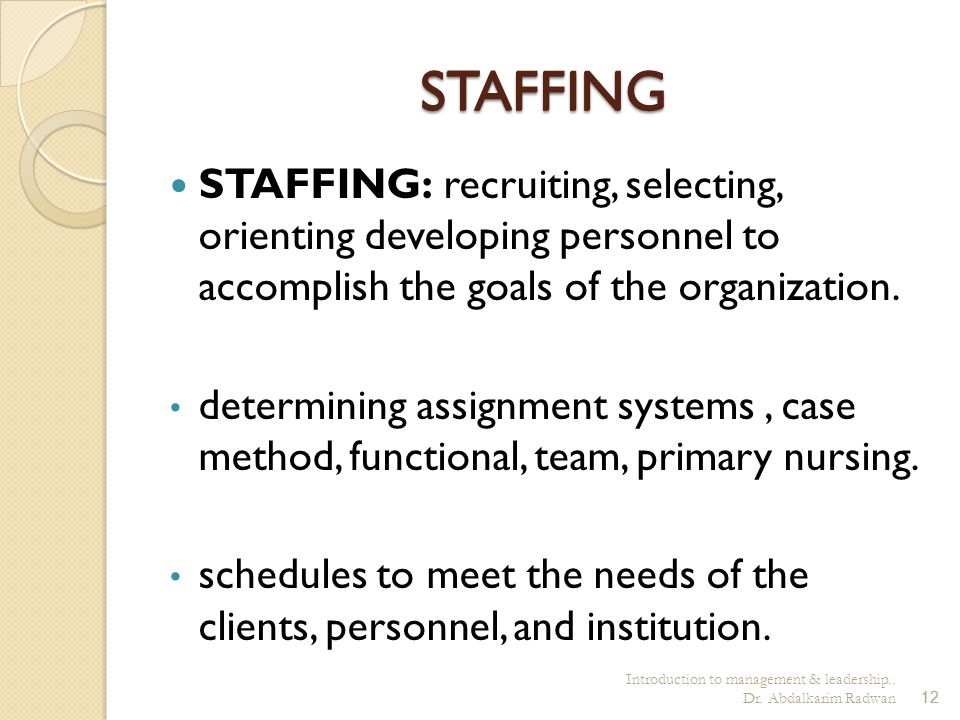 "Management and leadership in nursing Introduction unit ""1"" - ppt"