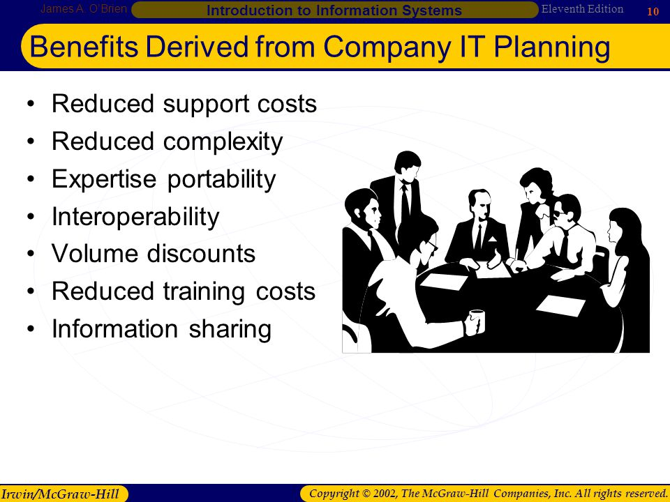 Benefits Derived from Company IT Planning