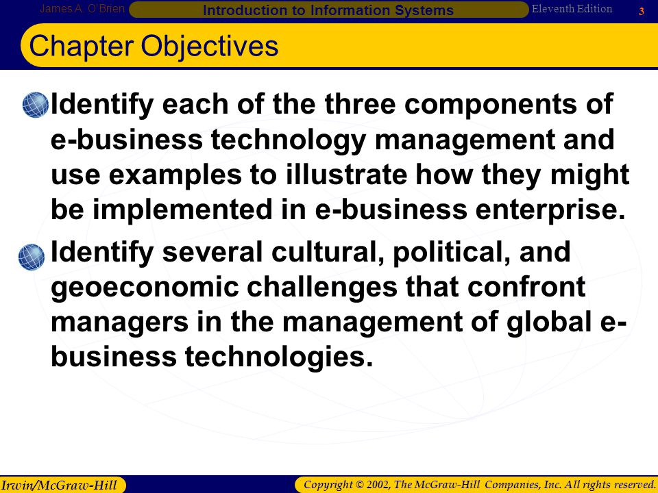 Chapter 1 Chapter Objectives.
