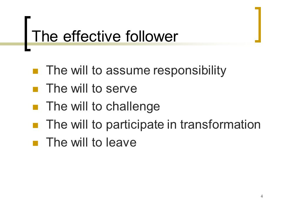 The effective follower