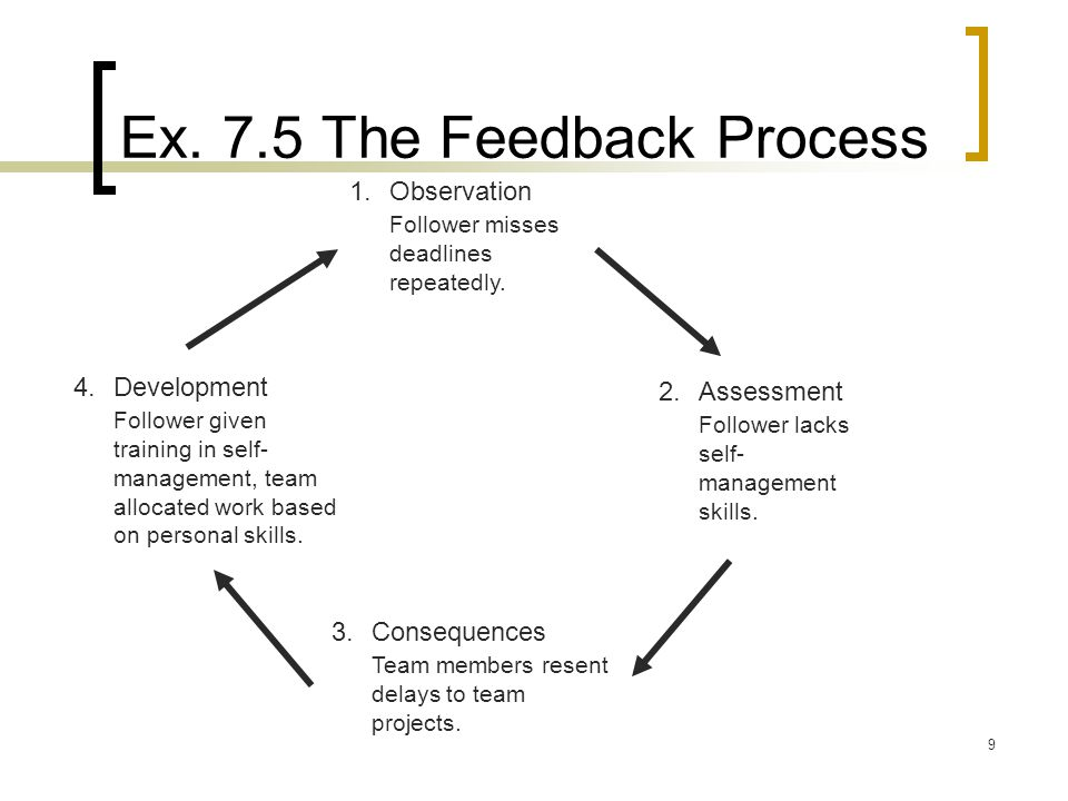 Ex. 7.5 The Feedback Process