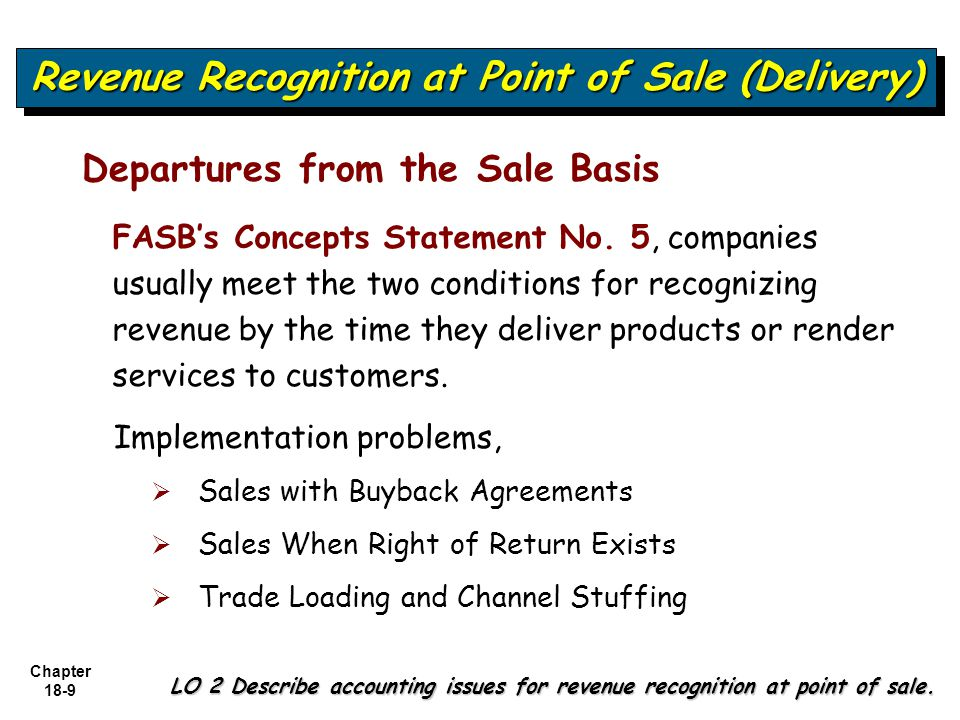 revenue recognition fasb Standards board (fasb) / international accounting standards board (iasb) revenue as you know, revenue recognition is how you financially account for the product or service your company.