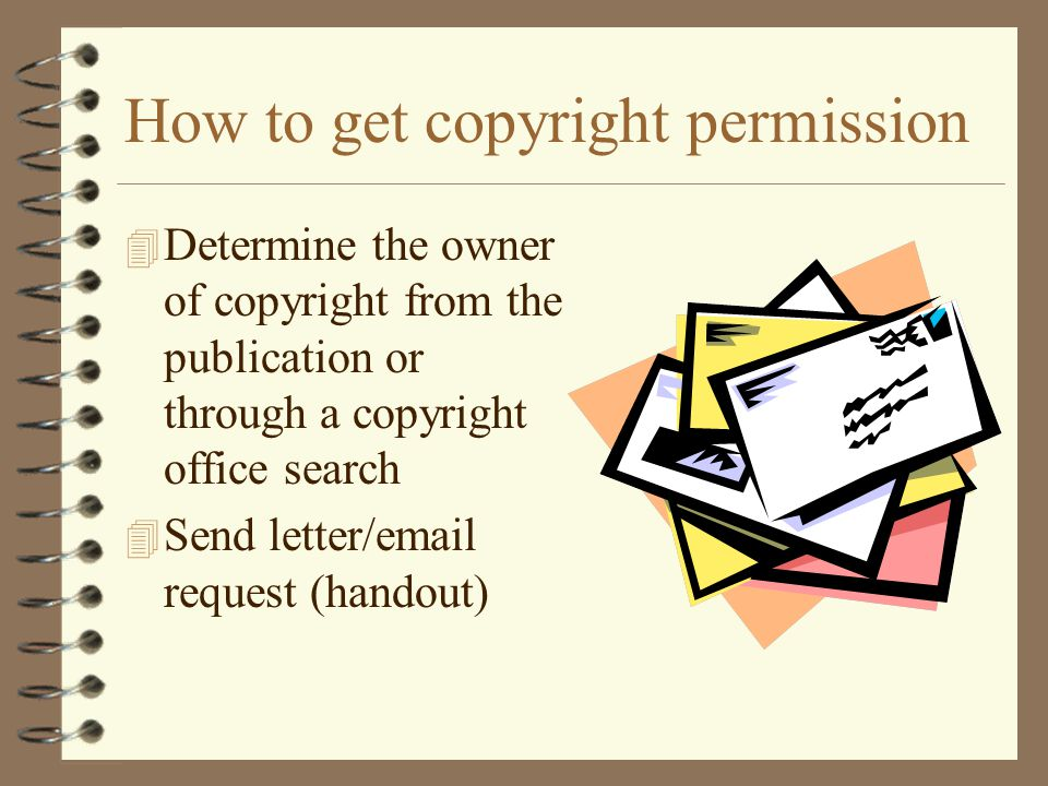 How to get copyright permission