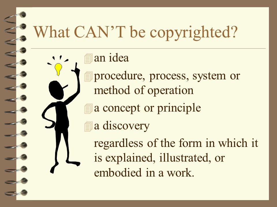 What CAN'T be copyrighted