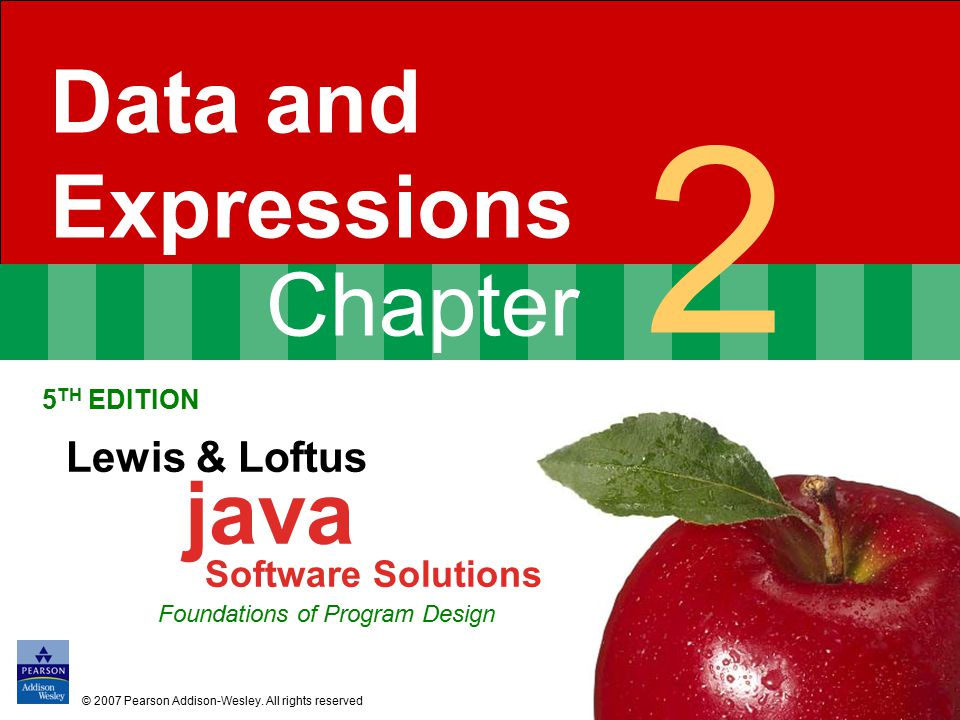 2 Data and Expressions Software Solutions Lewis & Loftus java