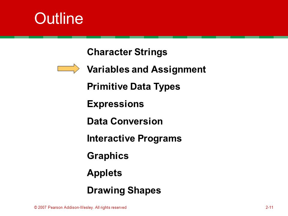 Outline Character Strings Variables and Assignment