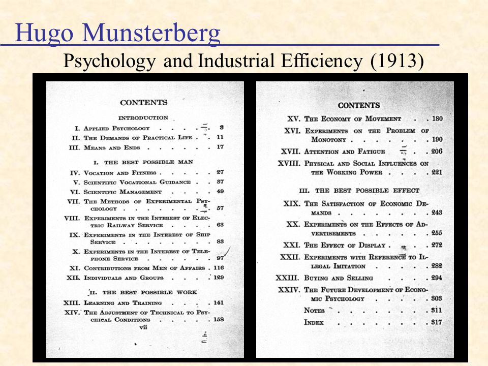 History of I-O Psychology - ppt video online download