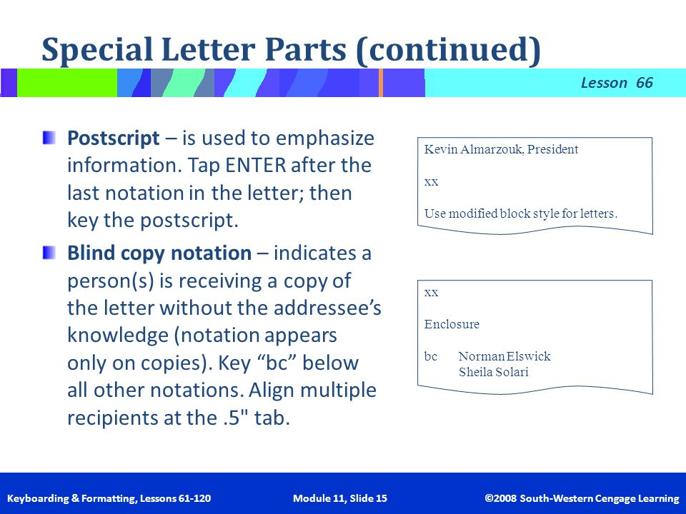 Letter memo mastery 11 learning outcomes ppt video online download special letter parts continued spiritdancerdesigns Choice Image