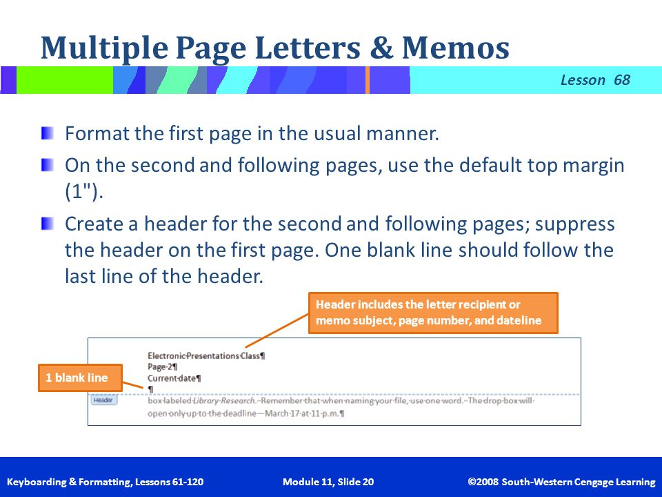multiple page letters memos
