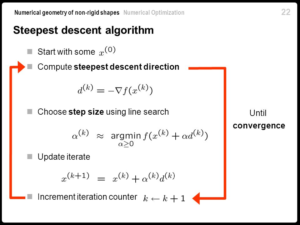 Numerical Optimization - ppt video online download