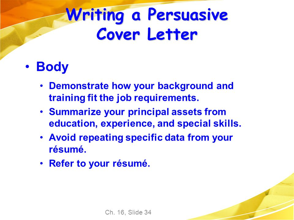 how to write a persuasive letter powerpoint chapter 16 employment communication ppt 18770