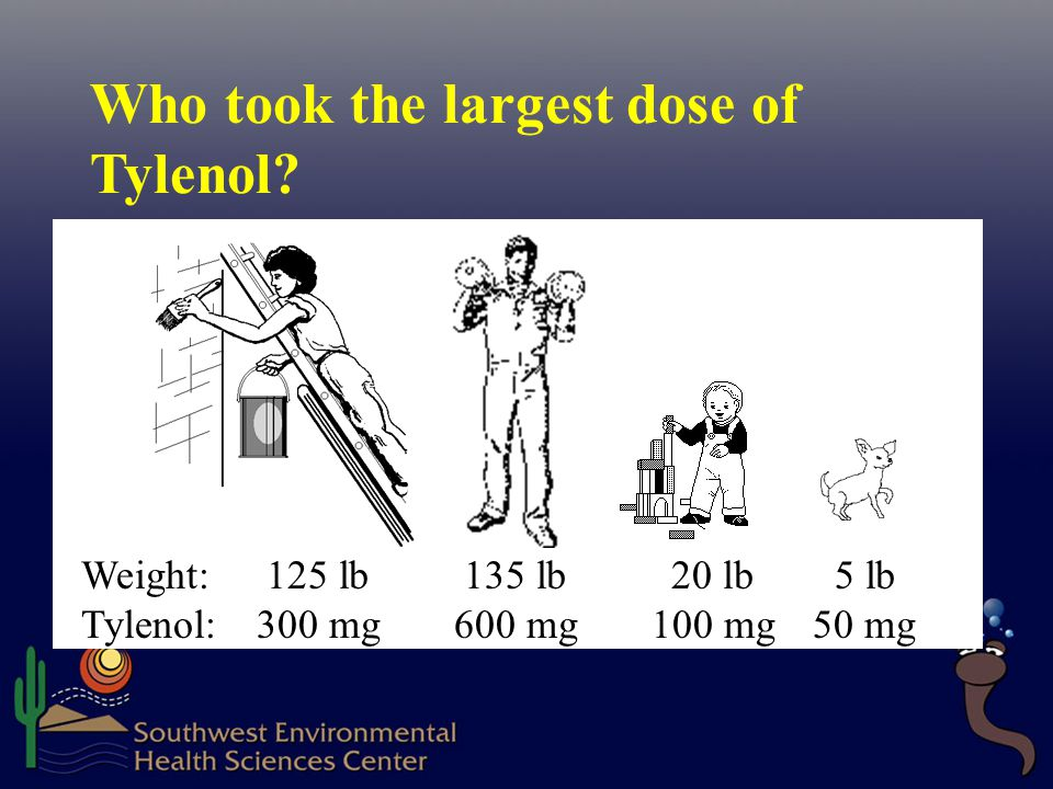Who took the largest dose of Tylenol