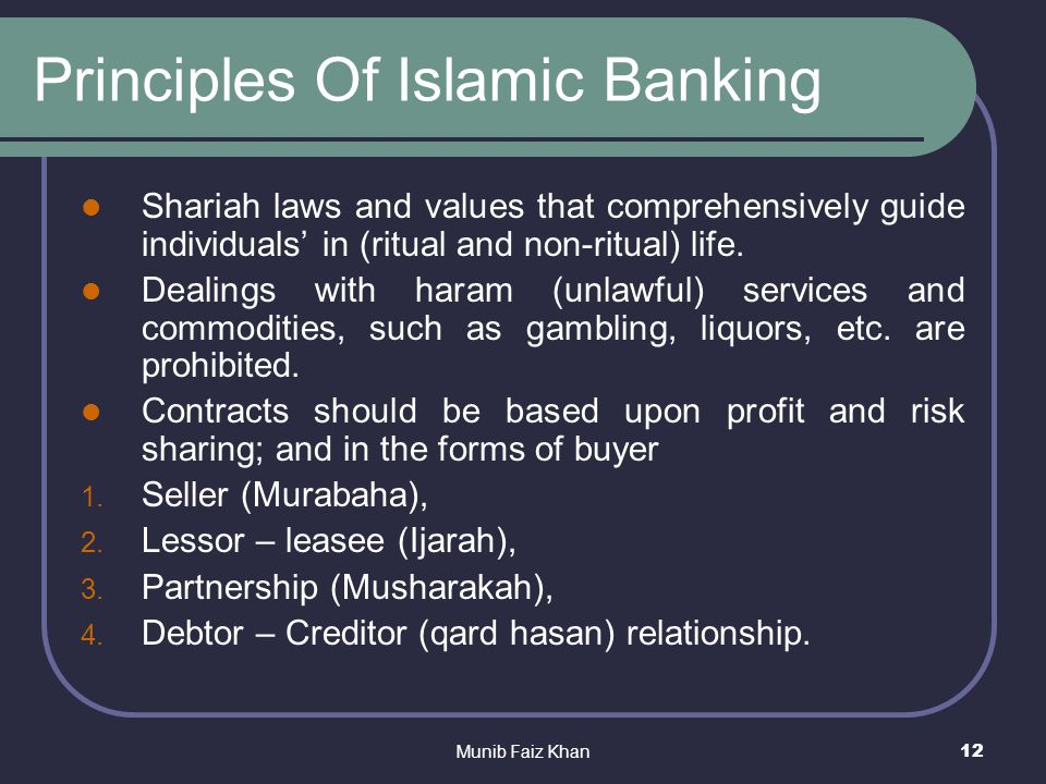 conventional banking principles There are arguments that islamic banking was based on high ethical principles which no longer remain the same a world bank paper states that conventional and islamic banking methods are very.