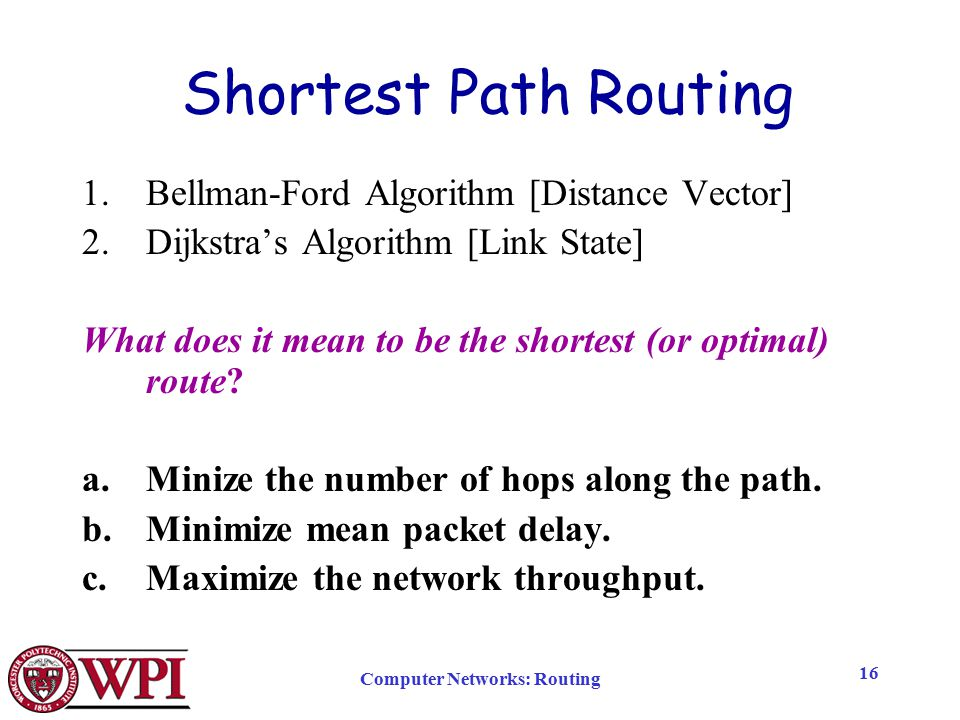 Computer Networks: Routing - ppt download