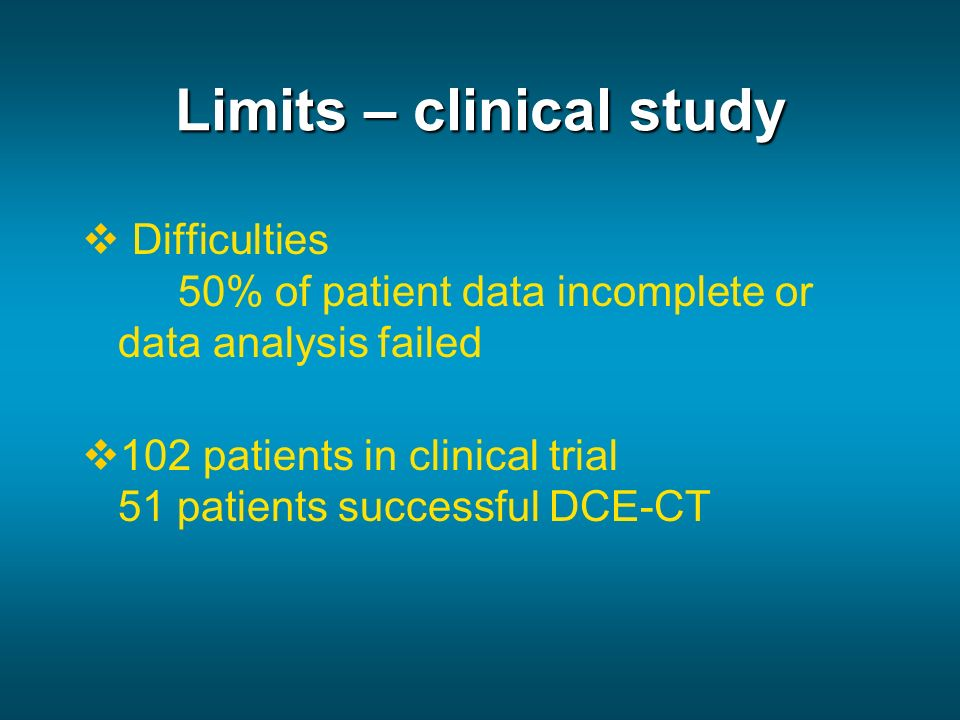 Limits – clinical study