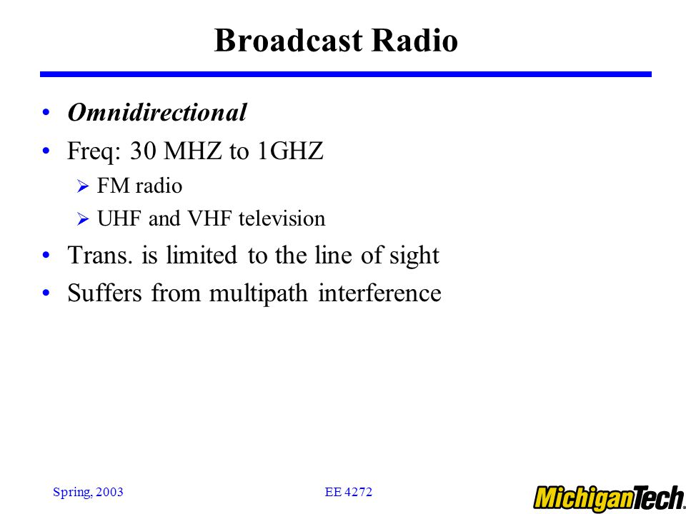 Broadcast Radio Omnidirectional Freq: 30 MHZ to 1GHZ