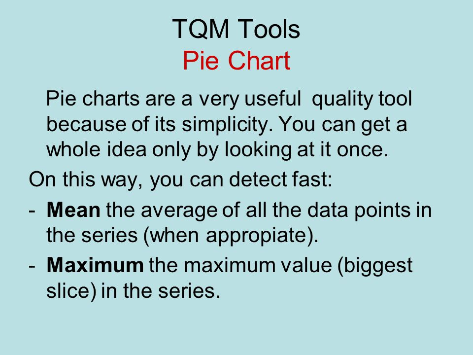 Tqm Tools Pie Chart What Is A Pie Chart Ppt Video Online Download