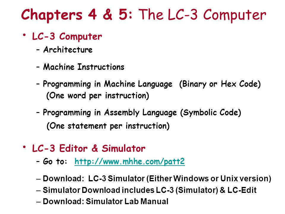 Lc 3 Computer Lc 3 Instructions Ppt Video Online Download