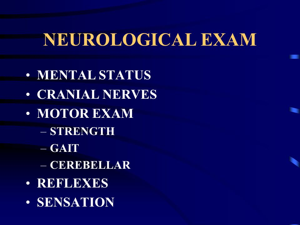 The Neurological Examination Ppt Download