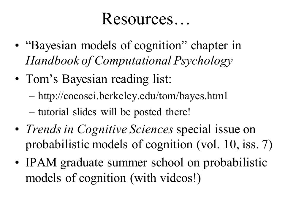 Bayesian models of inductive learning - ppt download