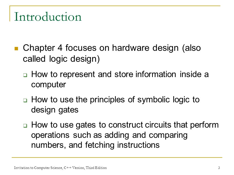 Invitation To Computer Science C Version Third Edition Ppt