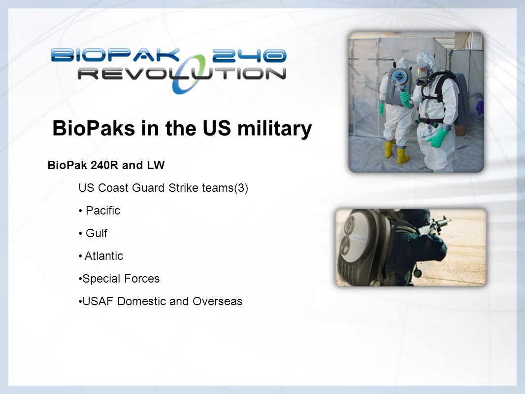BioPaks in the US military